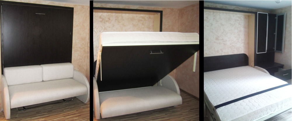 Шкаф кровать трансформер двуспальная  фото