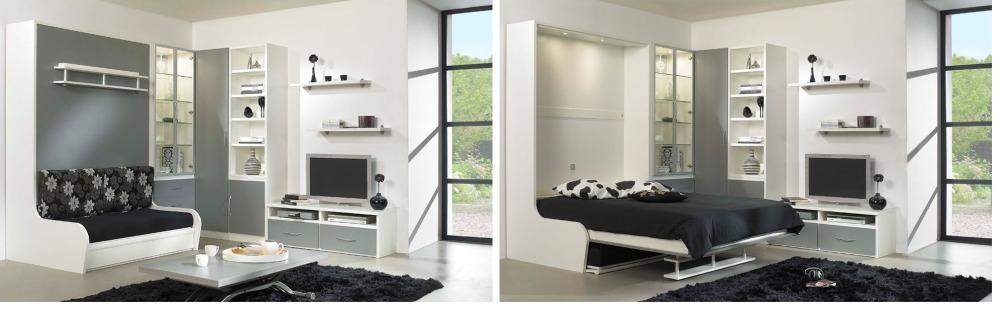 Нарния мебель для спальни и гостиной с диваном. Откидная подъемная кровать, встроенная с диваном